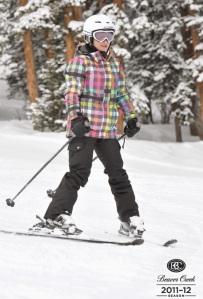 I'm skiing!
