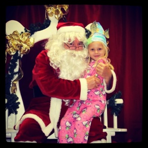 Santa visits G's school!