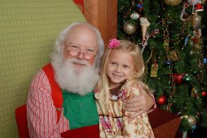 Gwennie & Santa Claus