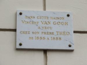 Van Gogh's pad in Montmartre