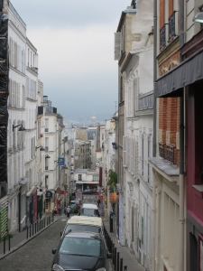 The view from Montmartre... you can see the Opera House with its gold roof in the distance