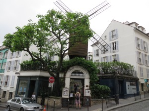 One of two remaining original windmills in Montmartre