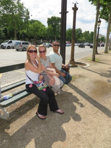 Taking a rest on the Champs Elysees