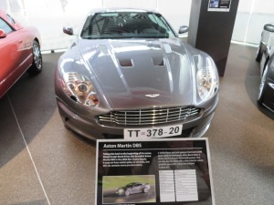 James Bond's Aston Martin before.....
